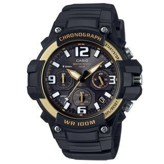 【CASIO】大錶面行家基本配備三眼指針運動錶(MCW-100H-9A2)