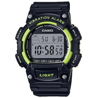 【CASIO】行家配備10年電力數位碼錶(W-736H-3A)