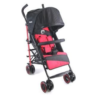 【BabyBabe】新款全罩式加寬平躺傘車(時尚紅)