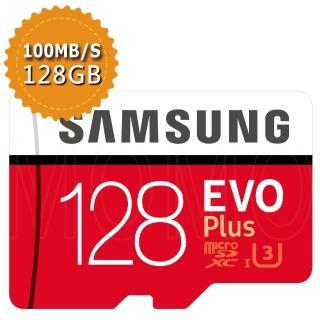 【SAMSUNG】三星 《EVO PLUS》 microSDXC 128GB USH-I 記憶卡(平行輸入)
