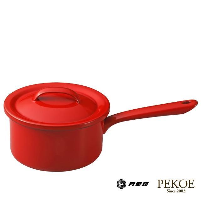 【日本月兔印】琺瑯單手醬汁鍋(紅.16cm)