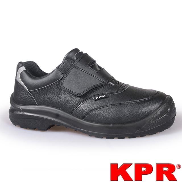 【KPR尊王】寬楦黏貼型安全鞋(L-055黑色/男女款)