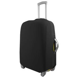 【PUSH! 旅遊用品】高雅黑行李箱 拉桿箱 登機箱 彈力保護套 防塵套 箱套 拖運套(24吋)