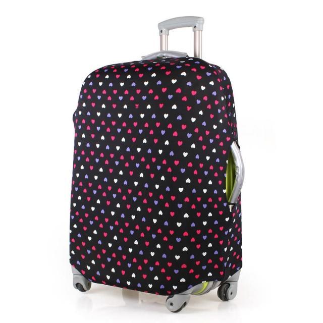 【PUSH! 旅遊用品】普普風情心心相印行李箱彈力保護套防塵套箱套拖運套20寸(20寸 清倉特價)