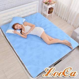 【送4D透氣枕墊x2】LooCa蜂巢4D透氣雙面涼爽床墊(雙人)