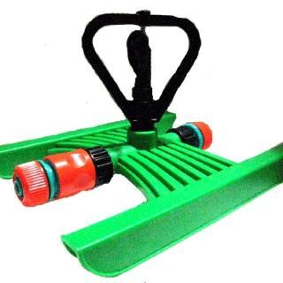 【灑水達人】六分中端塑膠環旋轉式噴頭腳架組合套裝2入