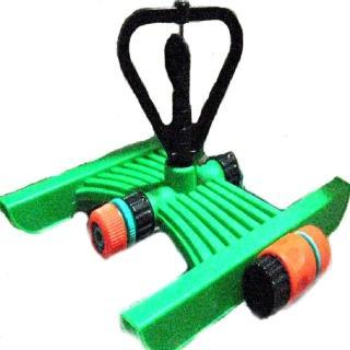 【灑水達人】六分末端塑膠環旋轉式噴頭腳架組合套裝2入