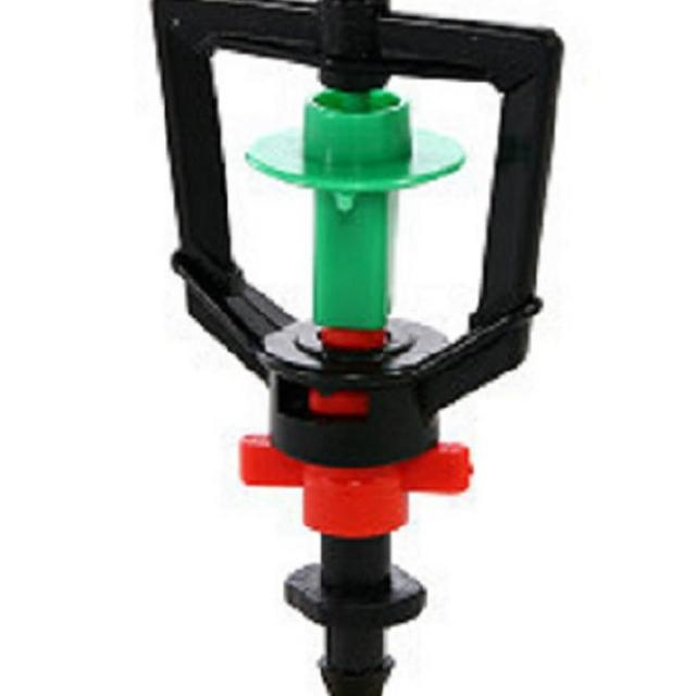 【灑水達人】2分迴轉型360度旋轉加四分外牙延伸2分PE管50公分5支(綠紅)