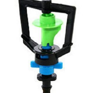 【灑水達人】2分迴轉型360度旋轉加四分外牙延伸2分PE管50公分5支(綠藍)