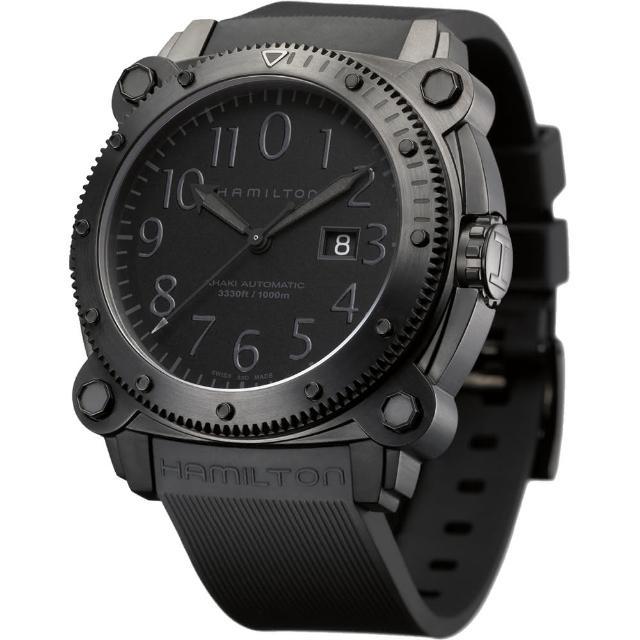 【Hamilton】漢米爾頓 KHAKI NAVY卡其海軍1000米潛水機械腕錶(H78585333)