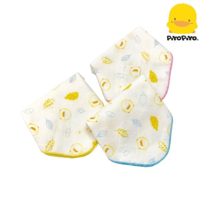 【黃色小鴨PiyoPiyo】印圖紗布手帕3入