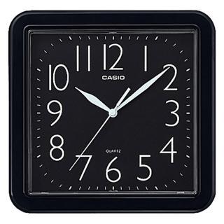 【CASIO 卡西歐】方形簡約時尚掛鐘-黑(IQ-02S-1DF)