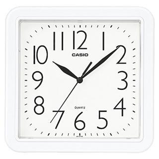 【CASIO 卡西歐】方形簡約時尚掛鐘-白(IQ-02S-7DF)