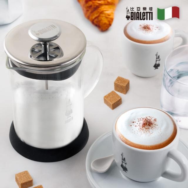 【BIALETTI】玻璃雙層奶泡器-1L(可進微波爐熱牛奶與飲品)