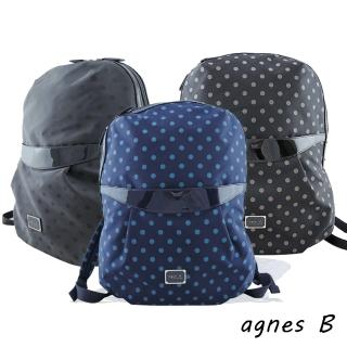 【agnes b.】VOYAGE東京限定點點尼龍後背包(3色選)