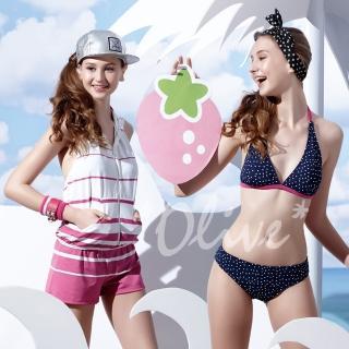 【聖手品牌】俏麗點點風格時尚三件式比基尼泳裝(NO.A93621)
