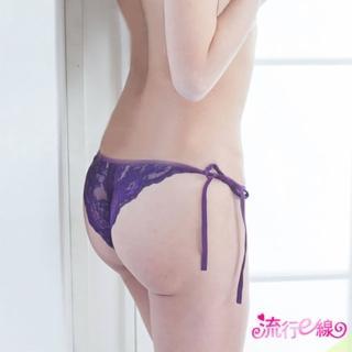 ~ E線~紫色綁帶開襠丁字褲性感內褲^(B6034^)