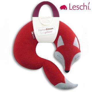 【德國萊思綺Leschi】旅行枕頭/辦公室/教室午休枕頭(狐狸造型 -橘紅色)