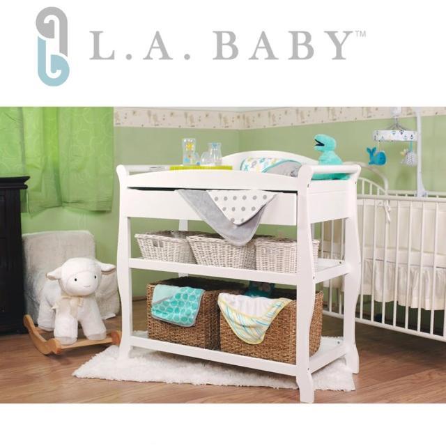 【美國 L.A. Baby】嬰兒尿布台置物架(白色)