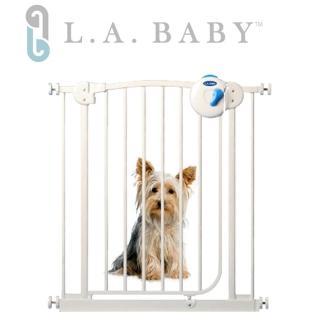 【美國 L.A. Baby】雙向自動上鎖安全鐵門欄(三道安全鎖裝置)