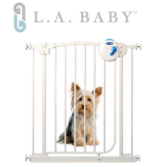 【美國 L.A. Baby】雙向自動上鎖安全鐵門欄(贈一片延伸件/三道安全鎖裝置)