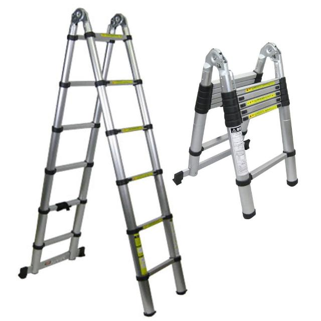 【Incare】鋁合金多功能伸縮梯-A字型(最高380cm)