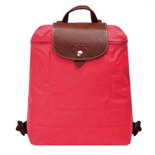 【LONGCHAMP】經典LE PLIAGE系列摺疊後背包(粉紅色1699089-C88)