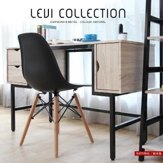 【H&D】里歐工業風個性鐵架收納式書桌/ 不含椅