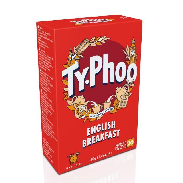 【Typhoo】英倫早餐茶2gx20入-裸包(紅茶)