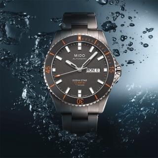 【MIDO】美度 Ocean Star Caliber 80 200m 鈦金屬潛水機械腕錶(M0264304406100)