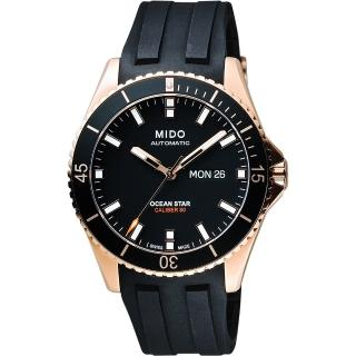 【MIDO】美度 Ocean Star Caliber 80 200m潛水機械腕錶-黑(M0264303705100)
