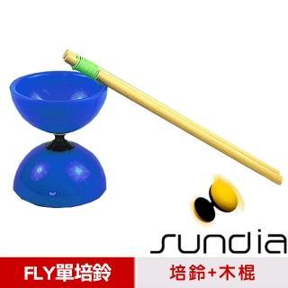 【三鈴SUNDIA】台灣製造FLY長軸培鈴扯鈴-附木棍、扯鈴專用繩(藍色)