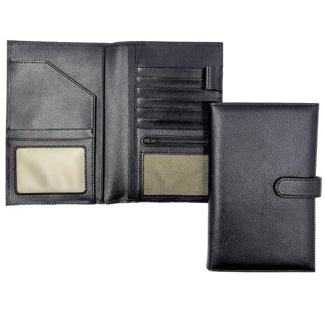 【Bosvision】防RFID/NFC側錄真皮護照包