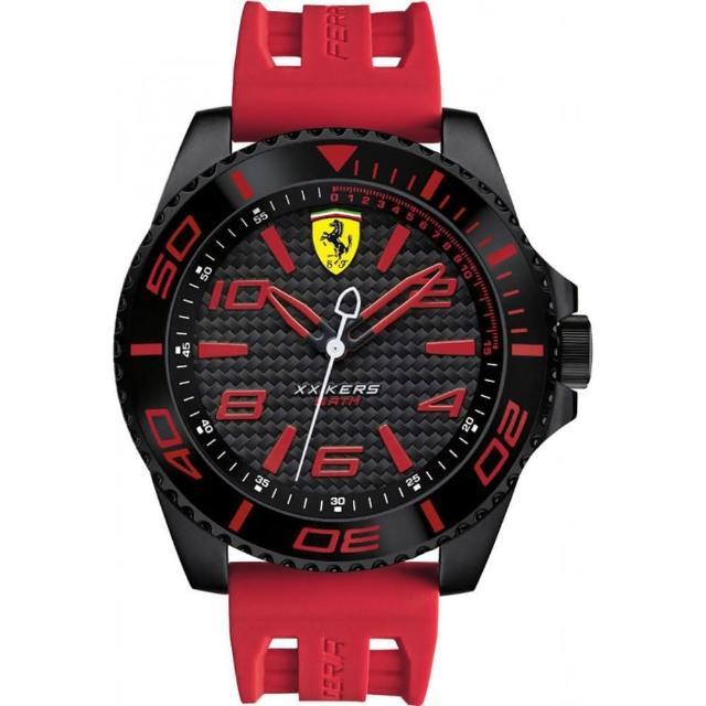 【FERRARI】法拉利決定速度運動腕錶(紅/0830308)