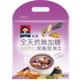 【QUAKER 桂格】全天然100%無加糖超級穀珍系列-黑穀堅果(23g*10入)