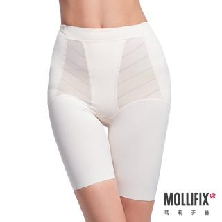 【Mollifix瑪莉菲絲】超自我 蜜腿Shape五分褲/塑身褲(3D秒塑系-裸膚)