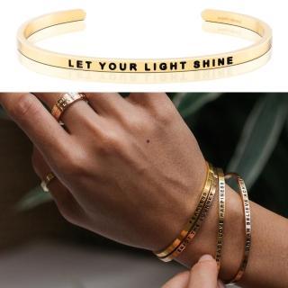 【MANTRABAND】美國悄悄話手環 Let Your Light Shine 閃耀你的光芒 金色(悄悄話手環)