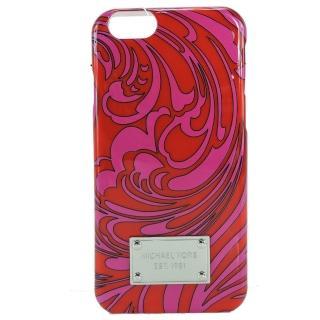【MICHAEL KORS】鐵牌花紋造型IPHONE 6S手機殼(玫瑰紅)