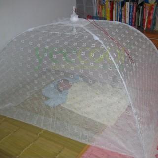 【Yeecool】【快速到貨】典雅傘型嬰兒蚊帳睡簾*白色針織小花紗網*(免組裝.免釘掛鉤)
