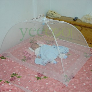 【Yeecool】【快速到貨】典雅傘型嬰兒蚊帳睡簾*白色紗網*(免組裝.免釘掛鉤)