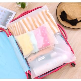 【JIDA】多功能磨砂款夾鍊收納整理袋 4件組
