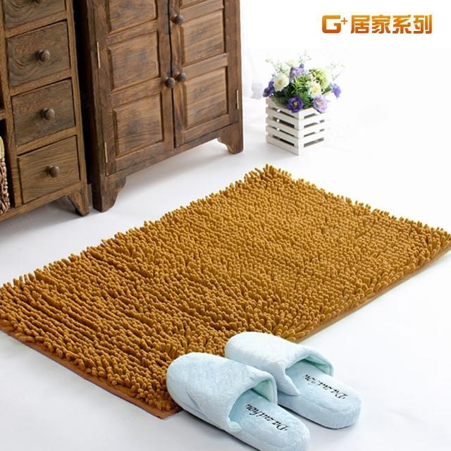 【G+居家】超細纖維長毛吸水止滑地墊腳踏墊(40X60公分-淺咖啡)/