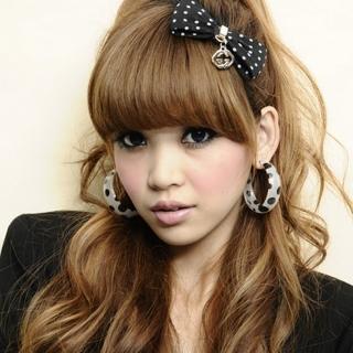 【Lady c.c.】可愛黑點壓克力圈圈耳環