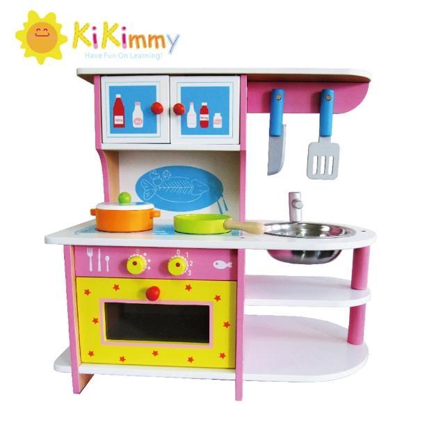 【台灣kikimmy】絢彩野莓木製廚房玩具(廚房玩具)