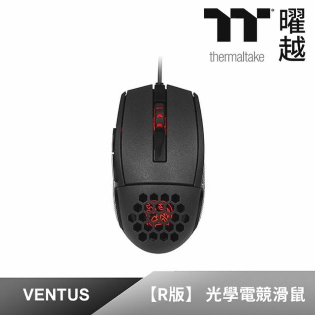 【Tt eSPORTS 曜越】夜襲 VENTUS R 雷射引擎電競滑鼠(MO-VER-WDOOBK-01)