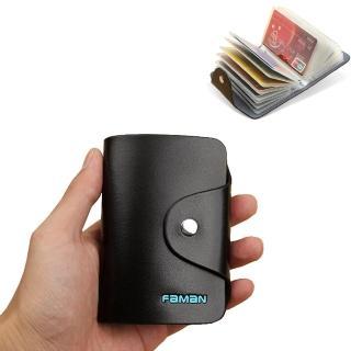 【PUSH!】真牛皮信用卡夾名片夾多卡位皮夾(男女通用 PUSH14)