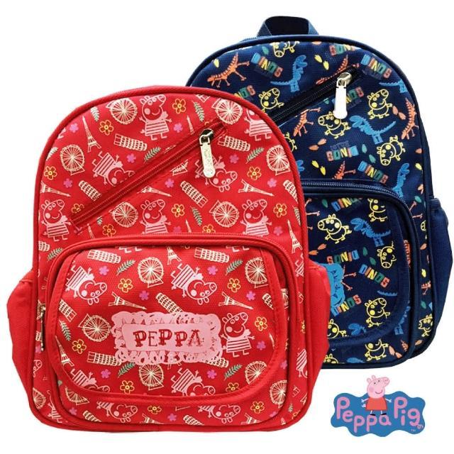 【Peppa Pig 粉紅豬】圖騰兒童後背包 2-6歲(佩佩豬巴黎 PP5821A)