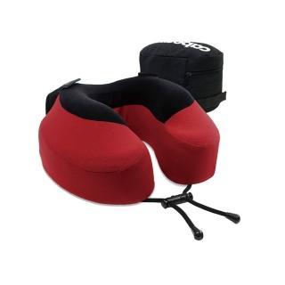 【CABEAU】旅行用記憶頸枕-深紅色(收納袋顏色隨機出貨)