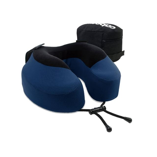 【CABEAU】旅行用記憶頸枕S3-醇藍/