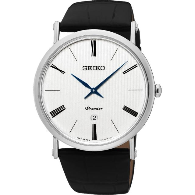 【SEIKO】精工 Premier 系列超薄石英腕錶-銀/40mm(7N39-0CA0P SKP395J1)